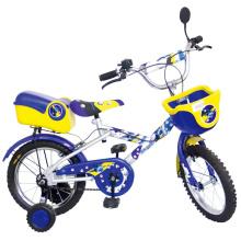Bicicleta de niño de dos ruedas con cesta