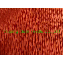 Tecido de cetim plissado