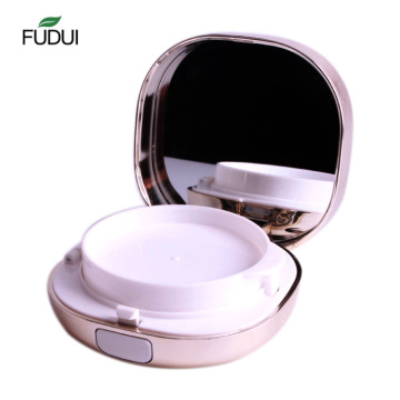 Cosmetic Makeup air cushion compact powder case with mirror