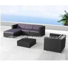 Muebles de mimbre vendidos calientes del jardín del ocio del marco del marco de aluminio