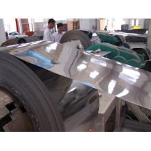 Material de indução 2b superfície / acabamento laminado a frio 201 bobina de aço inoxidável