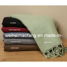 Шерстяной Wvoven авиакомпании /Airplane одеяло с бахромой (NMQ-AZ011)