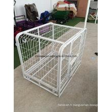 Cage à chien pliante robuste en métal