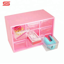 Tabletop small pink easy home organization for storage