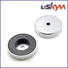 Imán magnético de cerámica del pote (P-002)