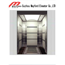 Роскошный зеркальный Лифт пассажира нержавеющей стали с roomless машины