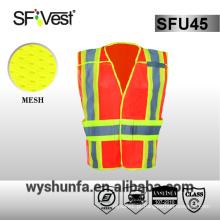 Colete de segurança 3m colete de alta visibilidade de segurança colete de vestuário de vestuário de protecção com muitos bolsos