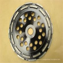 metal vinculación agente 125mm diamante taza rueda de doble fila