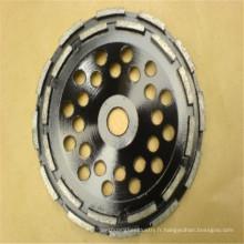 agent de liaison en métal 125mm roue de coupe en diamant de la double rangée