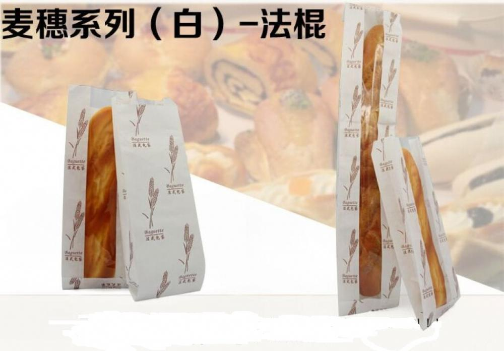 Baguette kraft paper bag with window