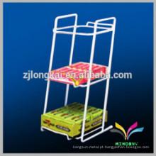 Hot sell supermercado contador de metal chewing gum display stand