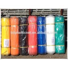 Orange polyester construction safety net