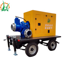Mobile Diesel Engine Dry Run Auto-amorçage Trailer Pump Station