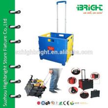 plastic foldable shopping cart