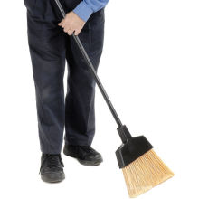 Wholesale hotel cleaning supply long handle cleaning plastic soft broom