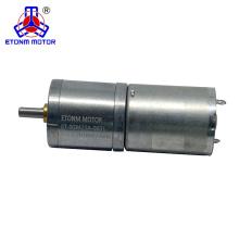 Motor de poco ruido del engranaje de la CC de 3v 6v 12v 24v con el codificador