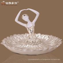 горячие продажа балет девушка рисунок тарелка с фруктами арт деко