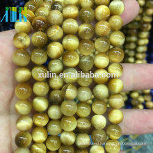 Wholesale 6/8/10/12 mm natural bulk Gold Tiger Eyes semi precious gemstone stone beads for jewelry