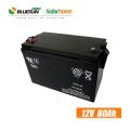 Bluesun deep cycle battery 12v 65ah 150ah 200ah solar gel battery for telecom tower