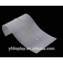 Support transparent d'affichage de collier acrylique