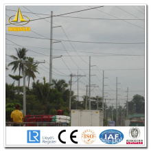Octange Silver Transmission Steel Pole