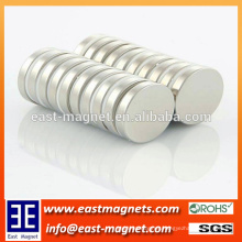 D15x4mm little round disc permanent magnet with ni-coated/strong magnet disc shape for sale