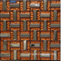Aluminum With Orange Coffee Color Glass Mosaic