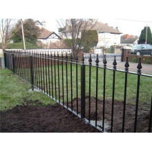 Bottom price for Black Coated Wrought Iron Fence Wrought Iron Picket Fence supply to Japan Manufacturers