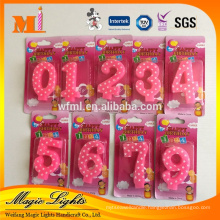 Elegant Design Beautiful Quality Export Birthday Number Candle for Cake Decoration