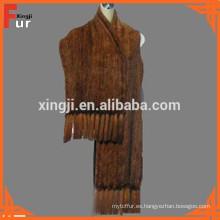 Natural Brown Fur Muffler & Fur Chawls