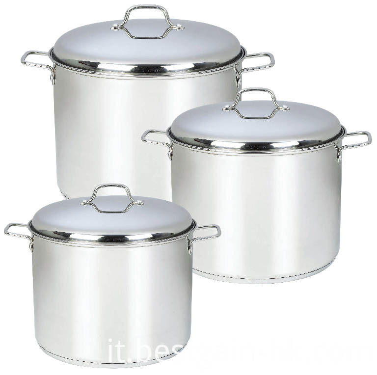 Stock Pot with Stainless Steel Lid