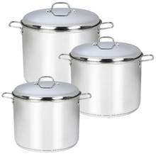 Stainless Steel Stock Pot with Liner Knob