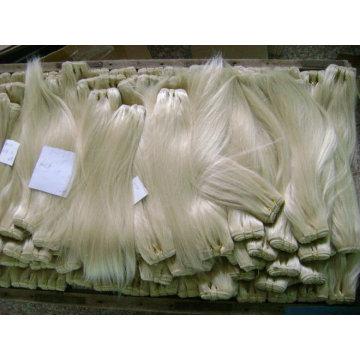 2013 hot sale blonde Indian remy hair weaving Qingdao