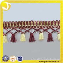 factory produce tassel fringe , wholesale Polyester Fringe