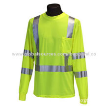 OEM/ODM Service Workwear Men's Autumn Long Sleeve Safety Shirt, Made of 100% Polyester Fabric