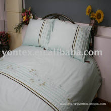 100% cotton Embroidered duvet cover