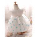 Высокое качество белый цвет новорожденных девочек крестины годик день рождения девочки детские платья