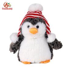 2017 Yiwu Factory Custom Plush Maker muñeco de peluche de Navidad pingüinos lindos de peluche de juguete pingüino de peluche