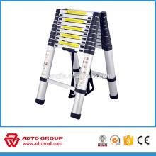 Escalera telescópica de aluminio de la venta caliente, escalera plegable rápida, escalera de mano