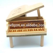 Mini boîte à musique en bois en forme de piano