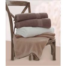 Роскошный отель Спа полотенца для ванной 100% хлопок Dobby Border Set Спа полотенце с логотипом полотенце