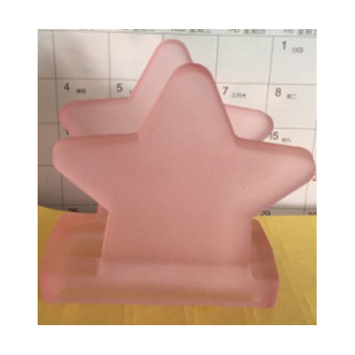 Pink Star Shape Glass Napink Holder