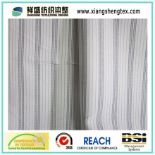 Tissu en coton polyester T / C en tissu 32 avec rayure