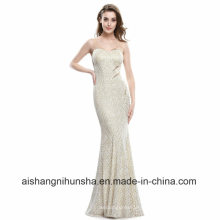 Сексуальная V-образным вырезом Женская элегантный рукавов длинное платье выпускного вечера