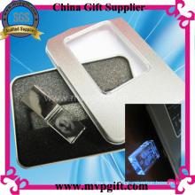 Crystal USB Flash Drive avec fonction d'éclairage