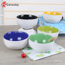 Runde Form Keramik glasierte Schüssel, Keramik Steinzeug Kinder Salat Schüssel