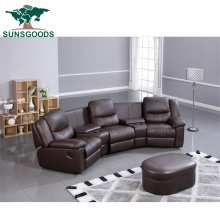 Best Selling Home Theater Chair with Storage and Cup Holder and Ottoman