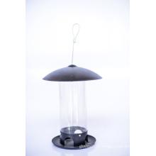 Couvercle et base en acier avec alimentation pour oiseaux à tube PC