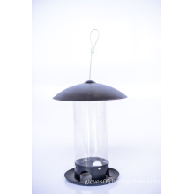 Steel Lid & Base with PC Tube Bird Feeder