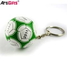 Wholesale Custom souvenir cheap soft pvc football 3d keychain